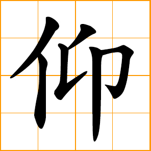 look up, face upward