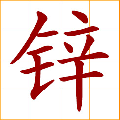 simplified Chinese symbol: zinc (Zn)