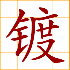 simplified Chinese symbol: coating, plating