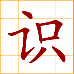 simplified Chinese symbol: sense, sensation; view, opinion, knowledge; to know, recognize, discern
